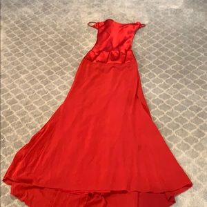 Nicole Miller red evening gown